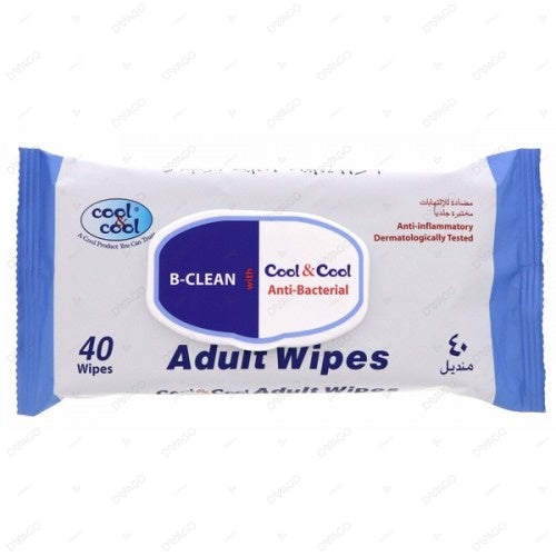 Cool & Cool Adult Alcohol Wipes 72's