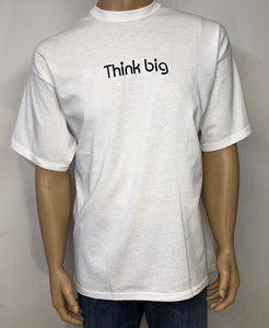Think big 👕 Embroidered text T-shirt