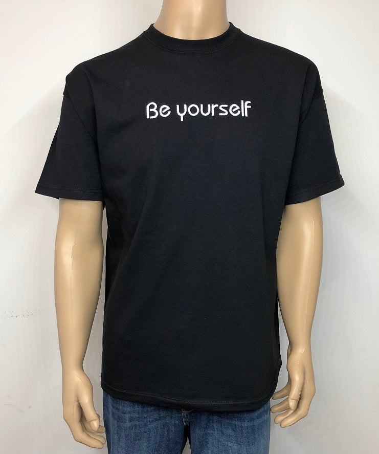 Be yourself 👕 Embroidered text T-shirt
