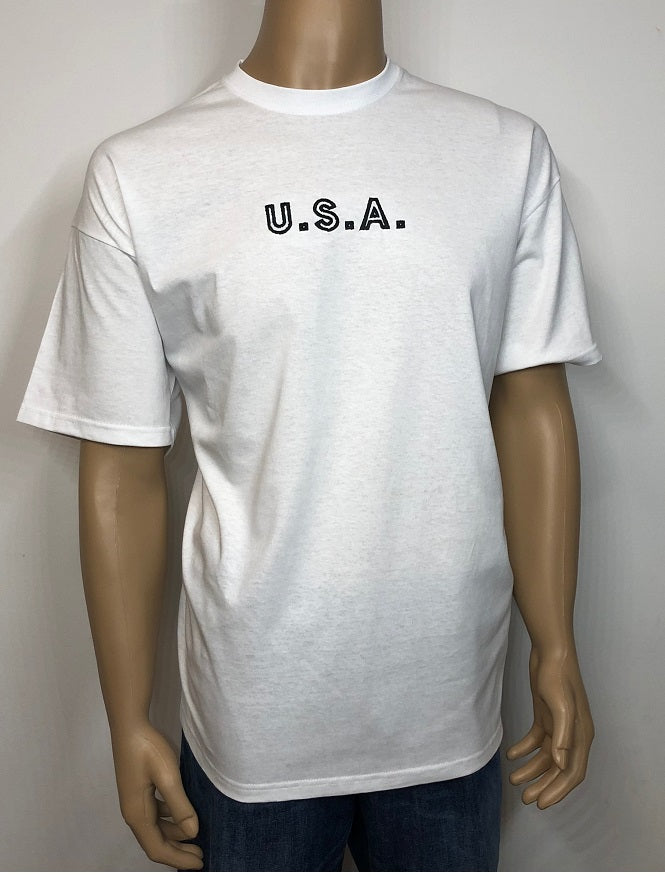 U.S.A. 👕 Embroidered text T-shirt