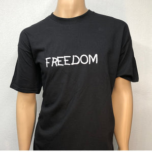 Freedom | Embroidered text T-shirt