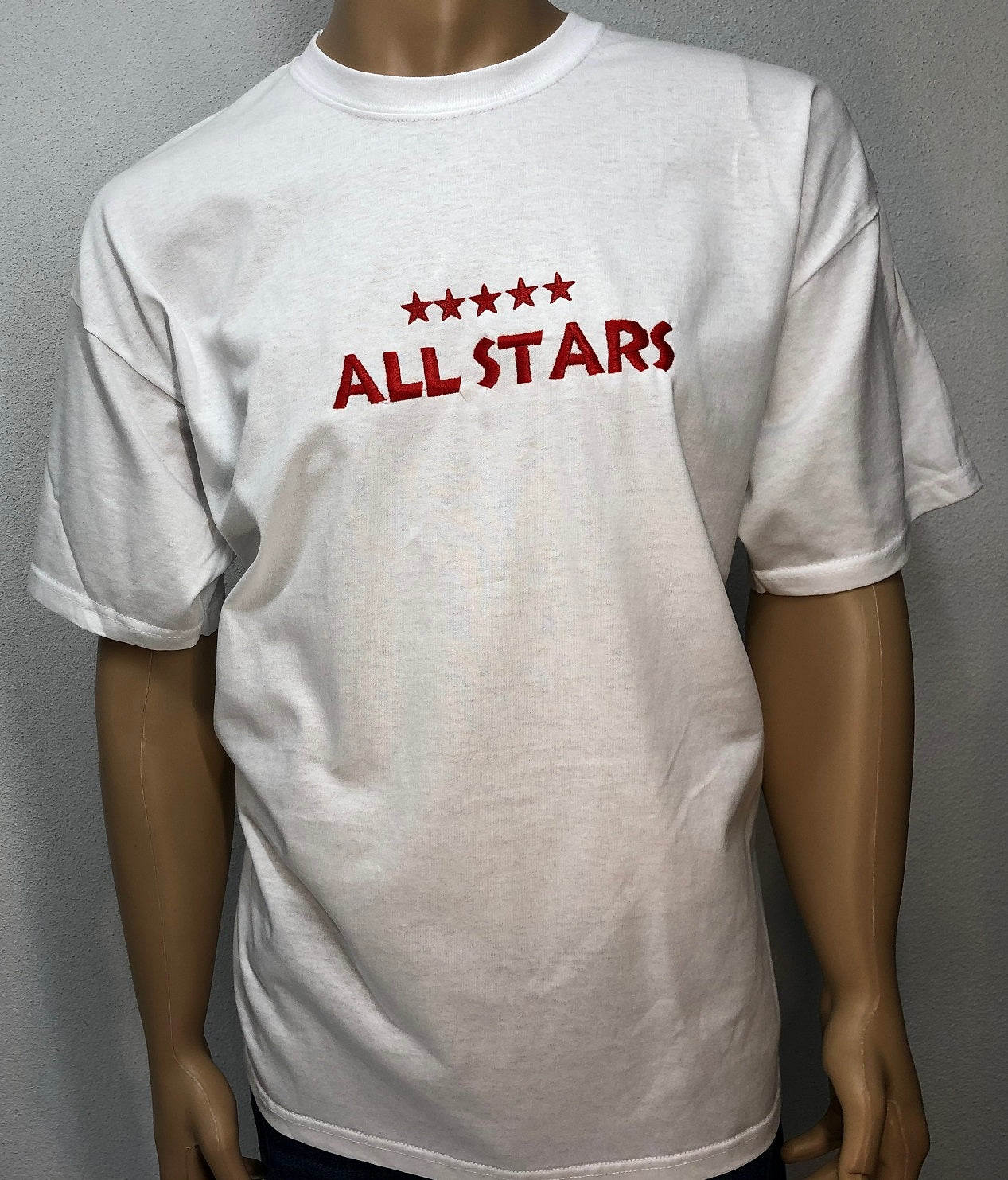 All stars 👕 Embroidered text T-shirt