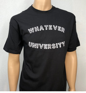 Whatever university 👕 Embroidered text T-shirt