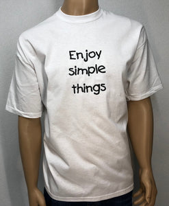 Enjoy simple things | Embroidered text T-shirt