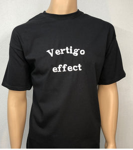 Vertigo effect 👕 Embroidered text T-shirt