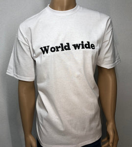 World wide 👕 Embroidered text T-shirt