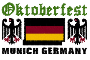 Oktoberfest | Image embroidered on T-shirt 👕