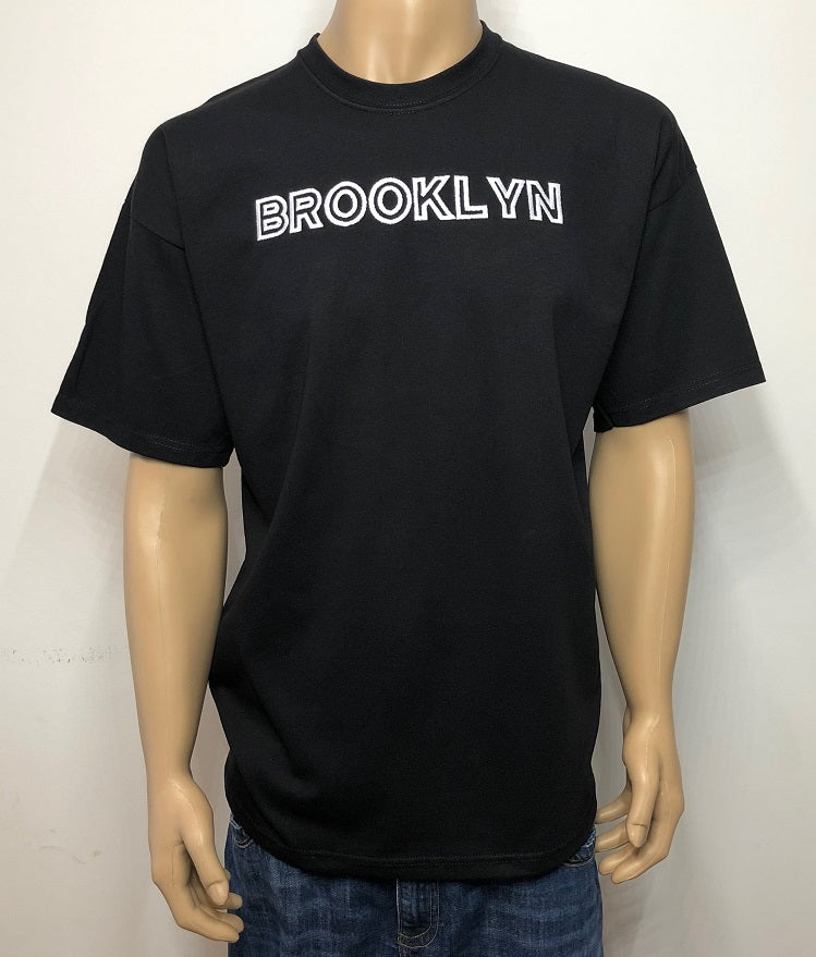 Brooklyn 👕 Embroidered text T-shirt