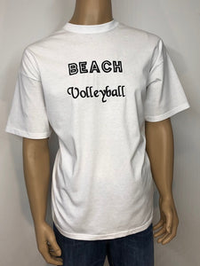 Beach Volleyball 👕 Embroidered text T-shirt