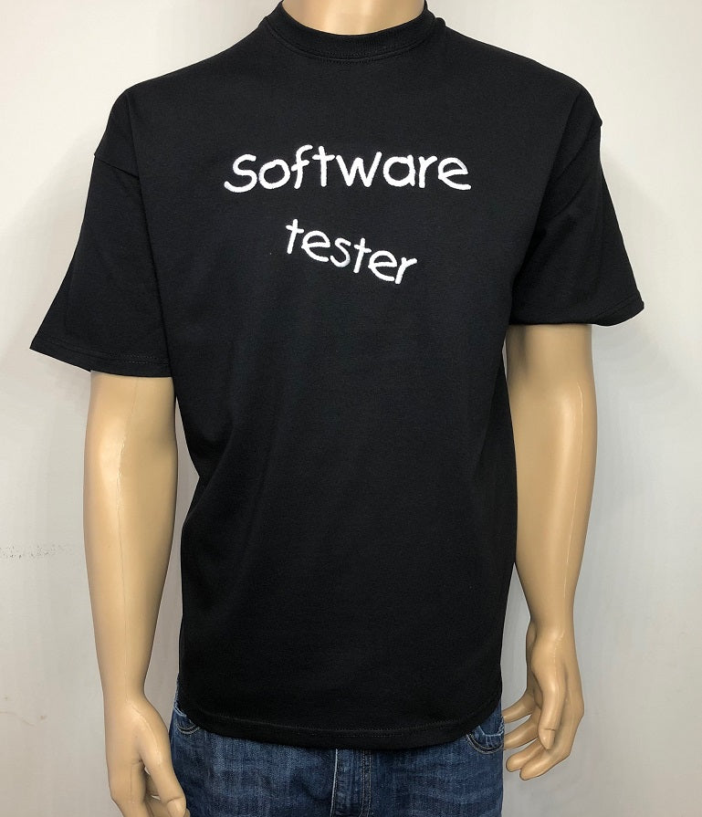 Software tester 👕 Embroidered text T-shirt