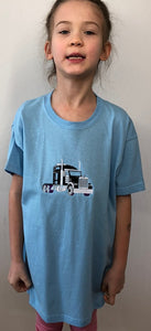 Big truck 🚚 | Image embroidered on kids T-shirt