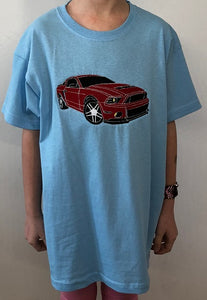 Racing car 🏎 | Image embroidered on kids T-shirt