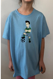 Soccer player ⚽️ | Image embroidered on kids T-shirt