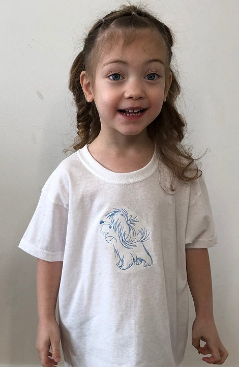 Puppy 🐶 | Image embroidered on kids T-shirt