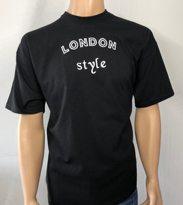 London sytle 👕 Embroidered text T-shirt