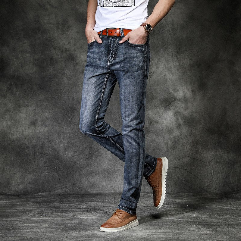 Slim Fit Elastic Jeans