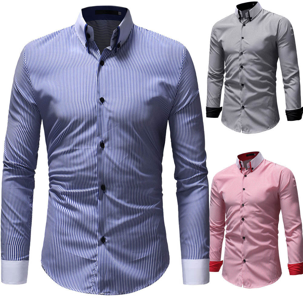 Fashion Long Sleeve Stripe Shirt