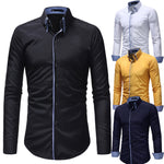 Fashion Casual Double Collar Shirt