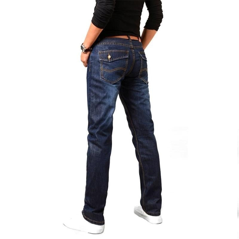 Casual Long Straight Jeans
