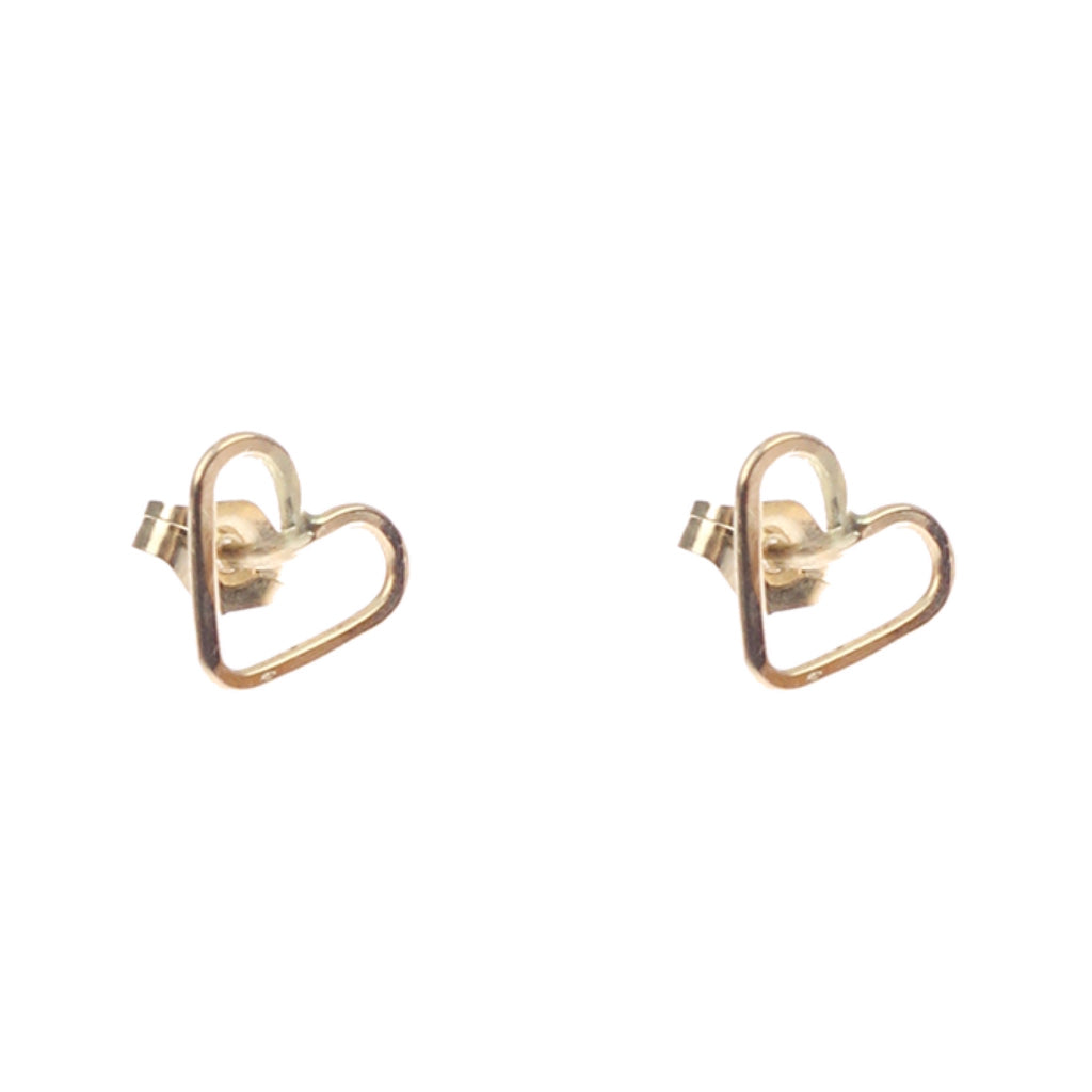 Lucky Mini Heart Studs