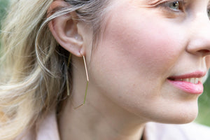 Octagon Hoop Earrings