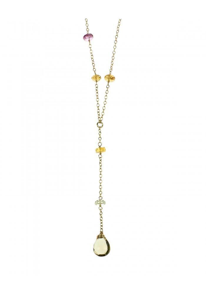 Cabana Gem Y Drop Necklace