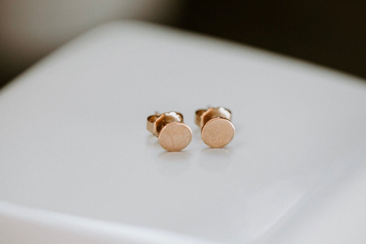 Button Stud Earring