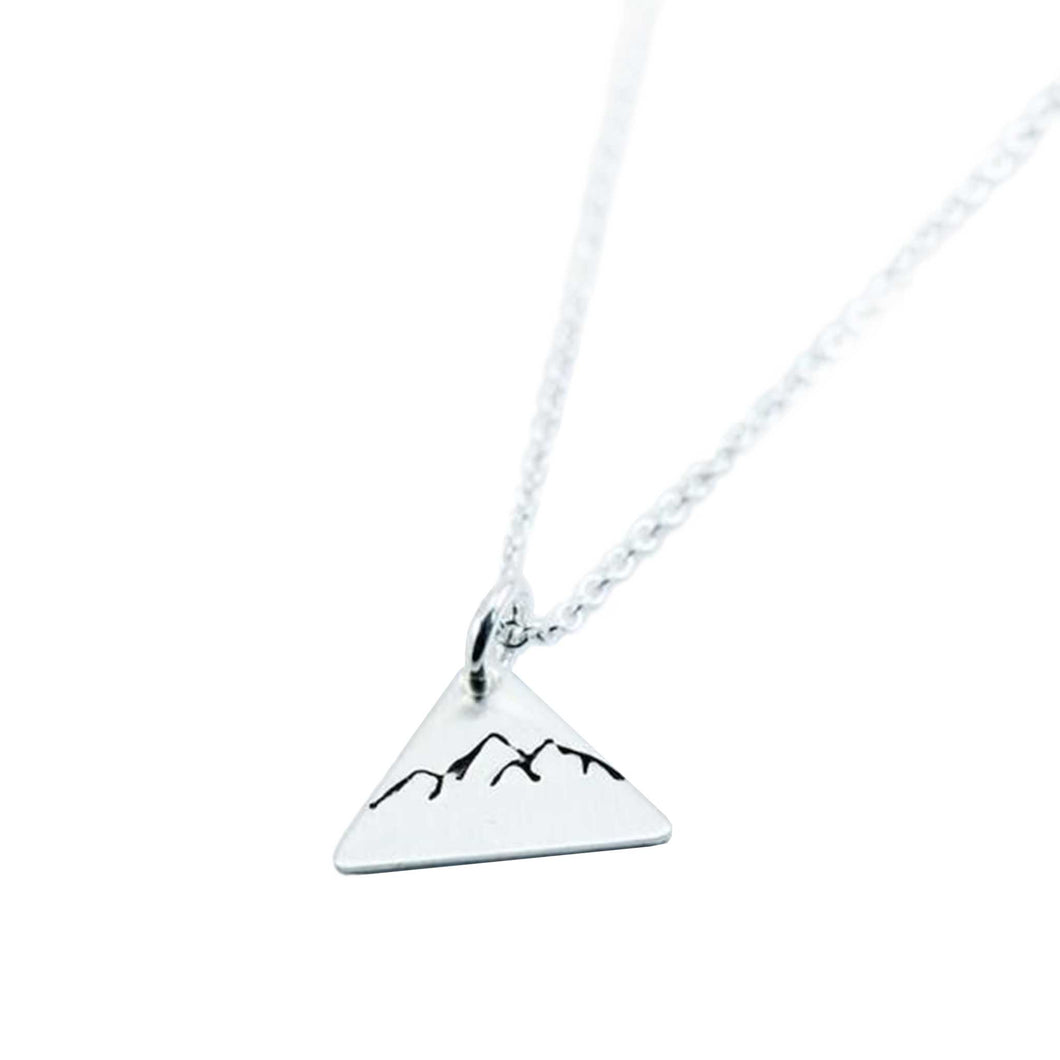 Dainty Triangle Mountain Necklace