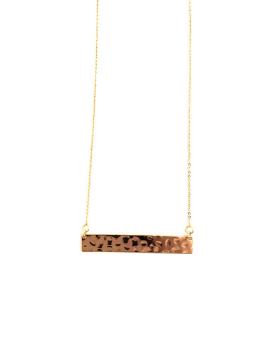 HARLOW Hammered Classic Bar Necklace