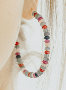 HARLOW Beaded Hoop Earrings