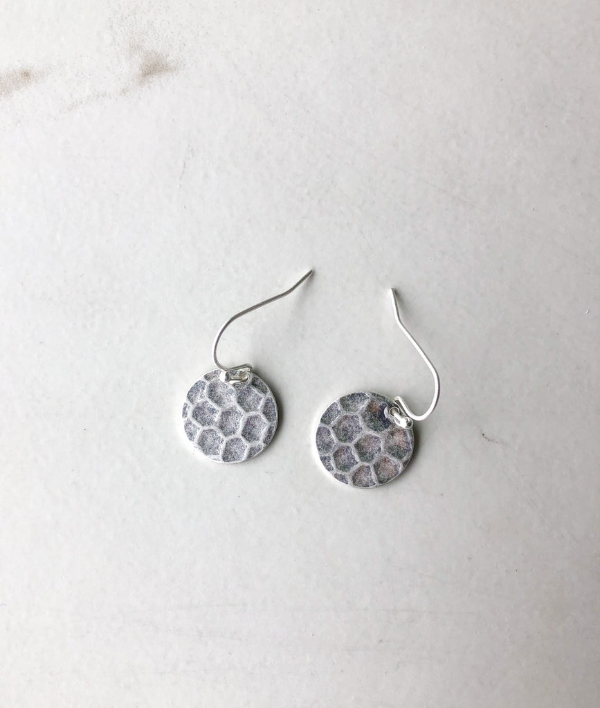 HARLOW Hammered Circle Earrings