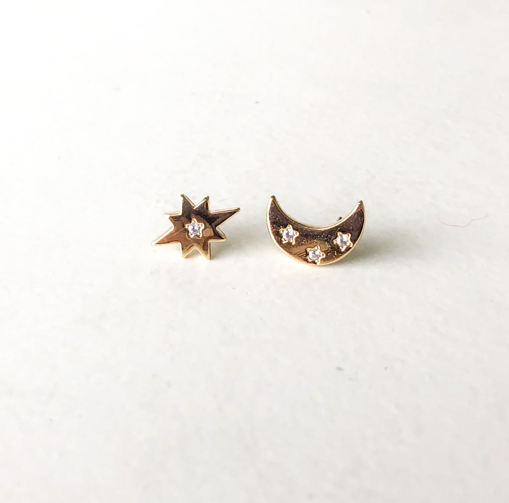 HARLOW Star & Moon Earrings