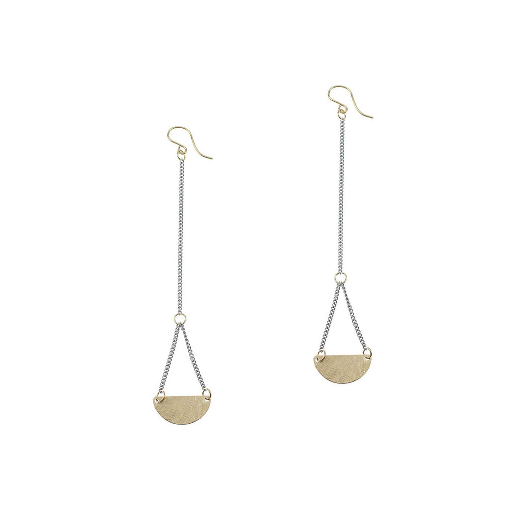 Half Moon Drop Earrings