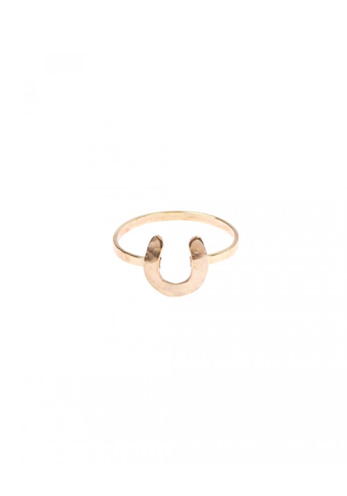 Horseshoe Charm Ring