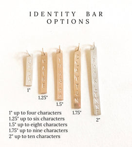 Identity One Bar Necklace