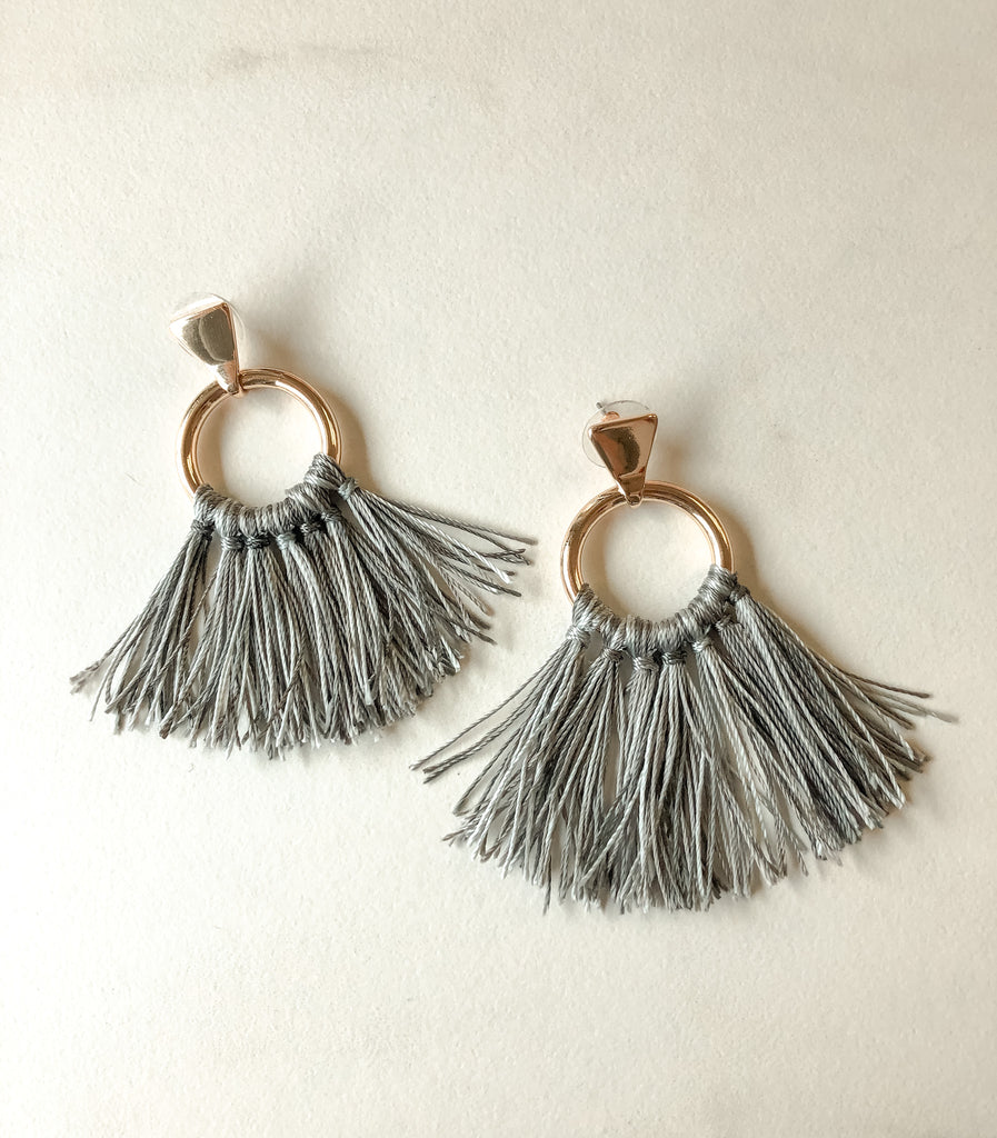 HARLOW Thick Fringe Earring