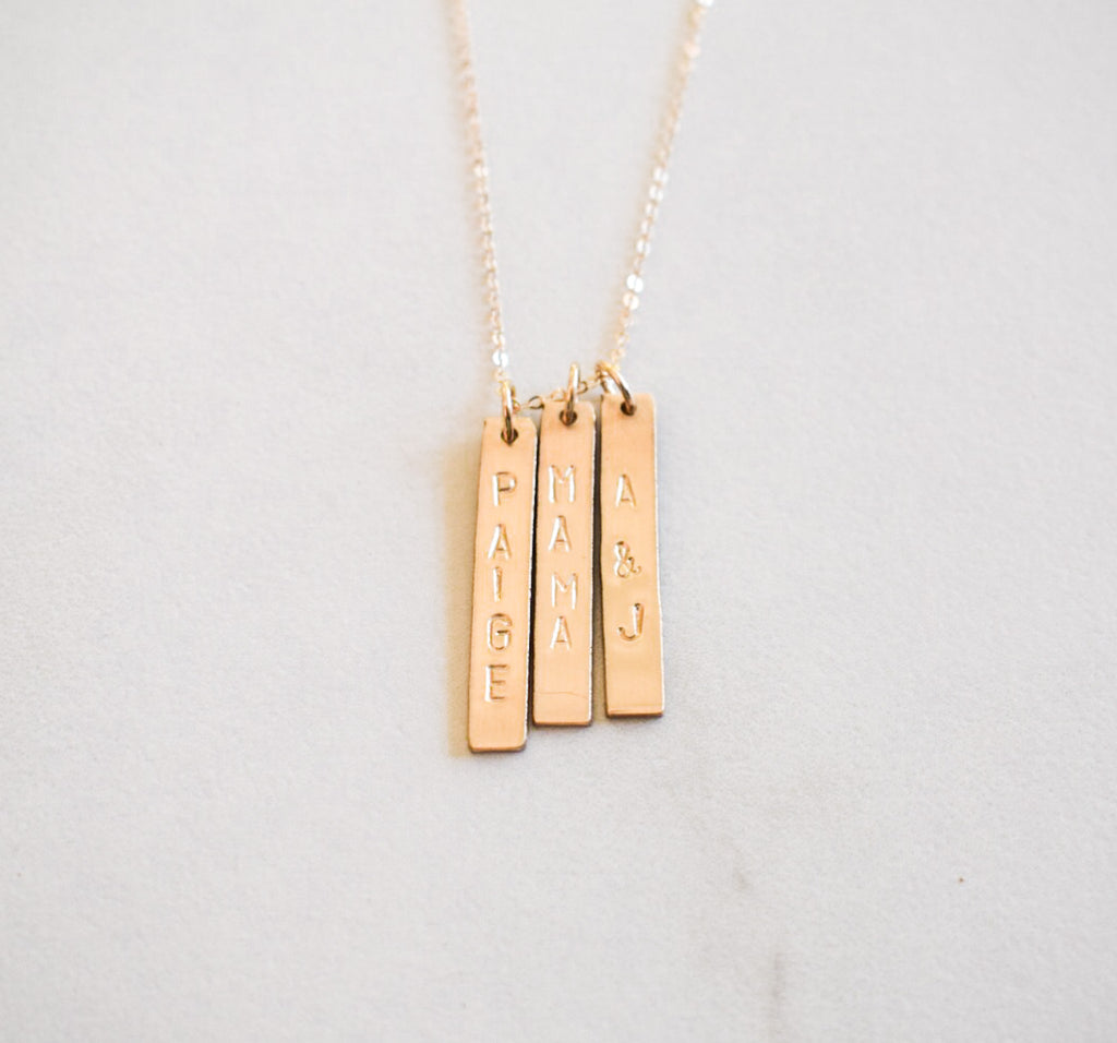 Identity Three Bar Necklace