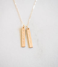 Identity Two Bar Necklace