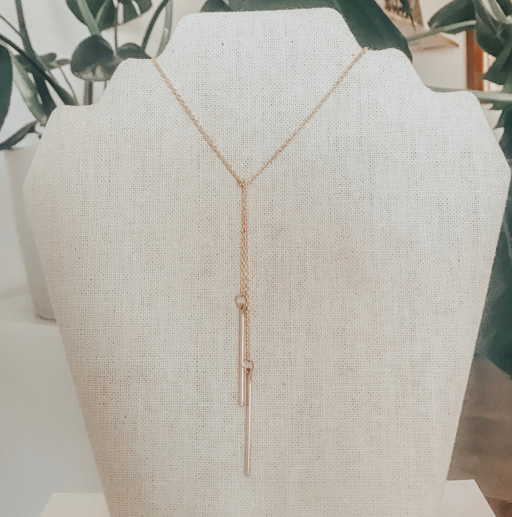 Viola Lariat Necklace