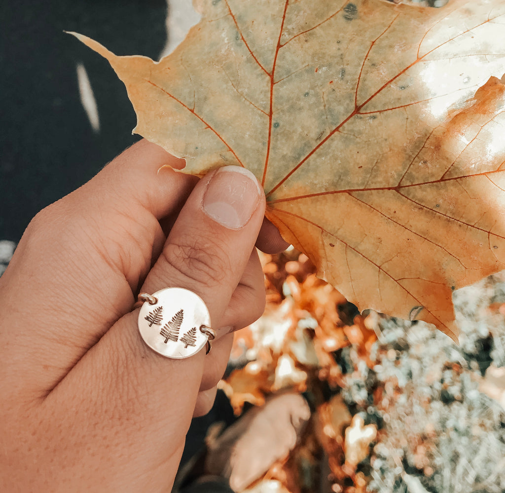 Classic Coin Design Stamp Ring