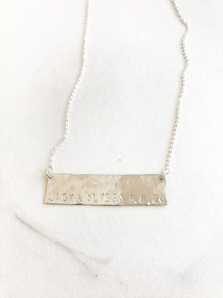 Hammered Classic Plate Necklace