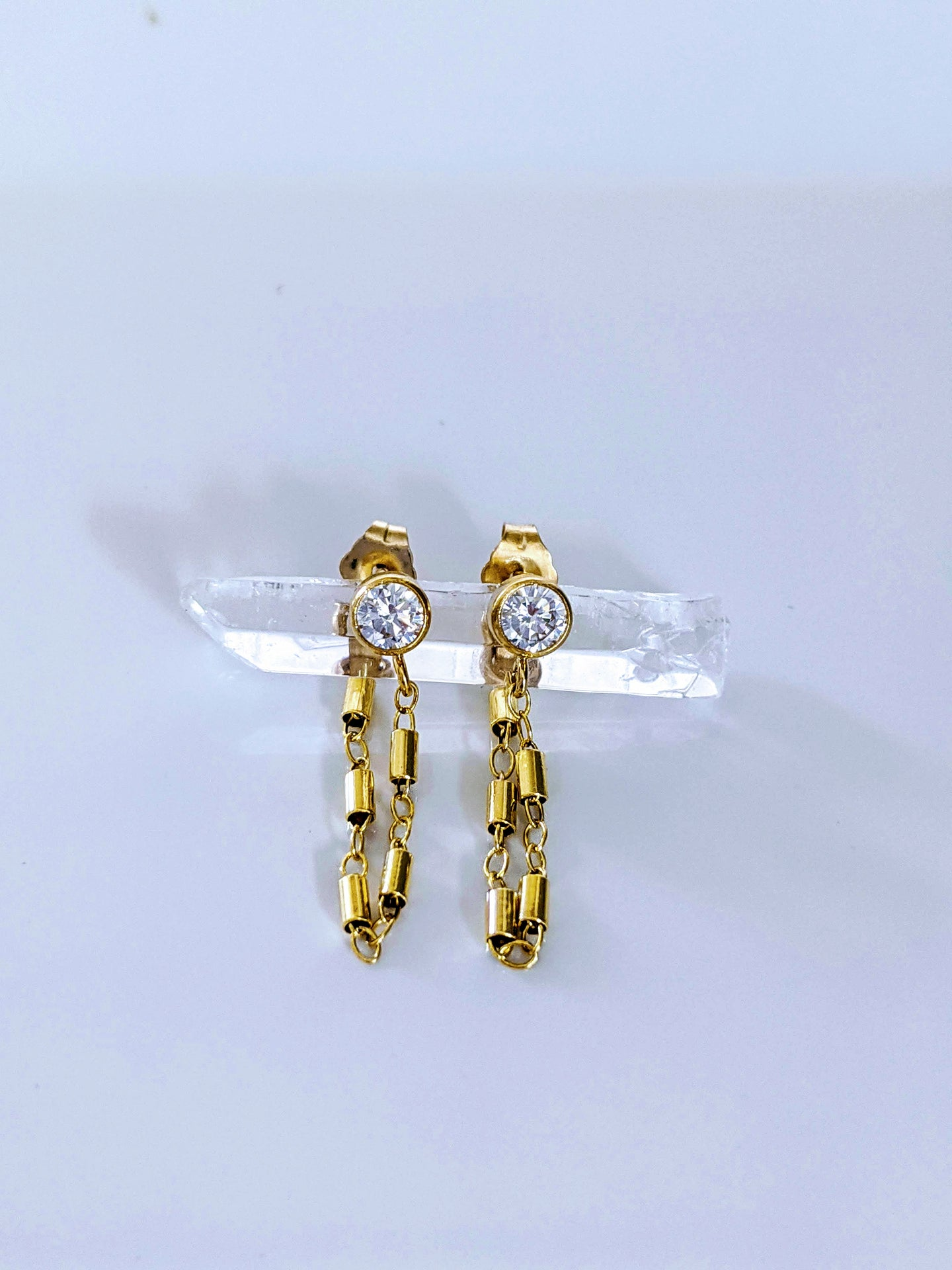 Tube Drop Wrap Earrings