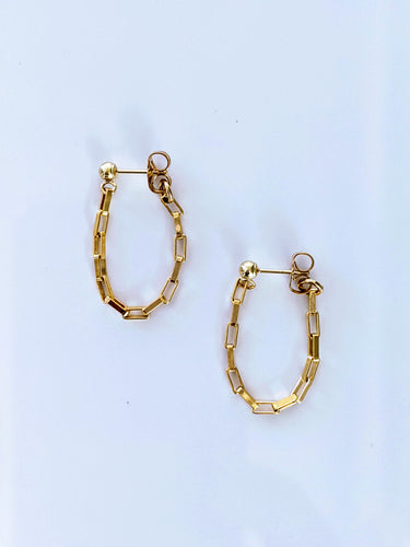 Cable Drop Wrap Earrings
