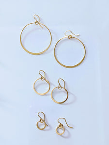 Muse Circle Earrings, Small