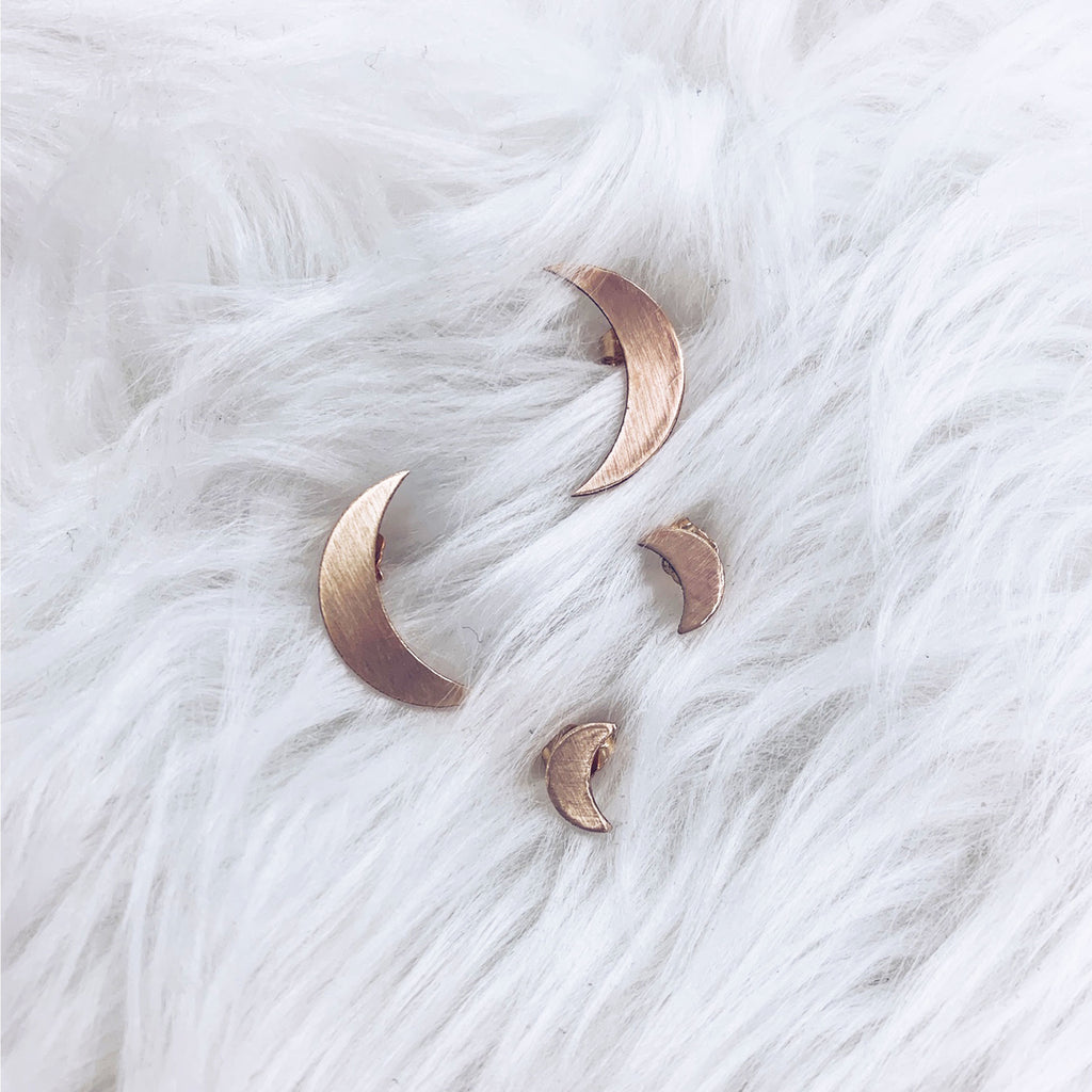 Mama Moon Stud Earrings