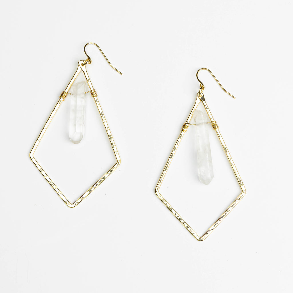 HARLOW Triangle Crystal Earrings