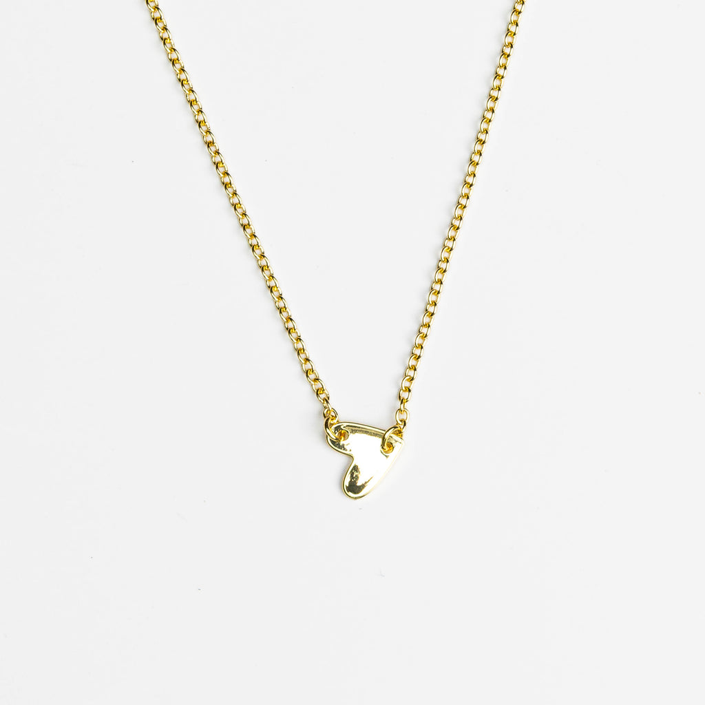 HARLOW Side Heart Choker Necklace