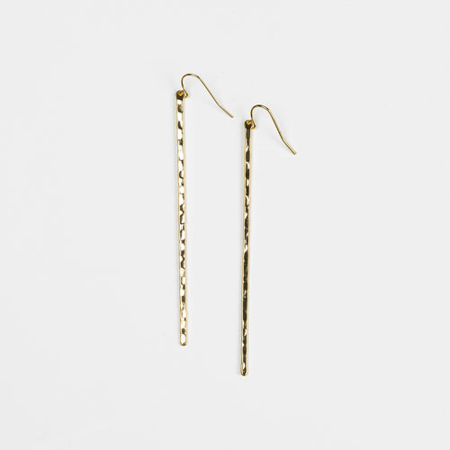 HARLOW Hammered Stick Earrings