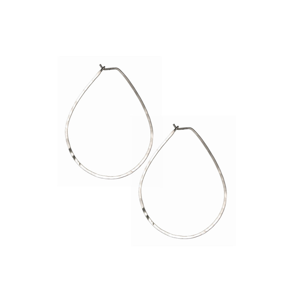Medium Pineapple Hoop Earrings
