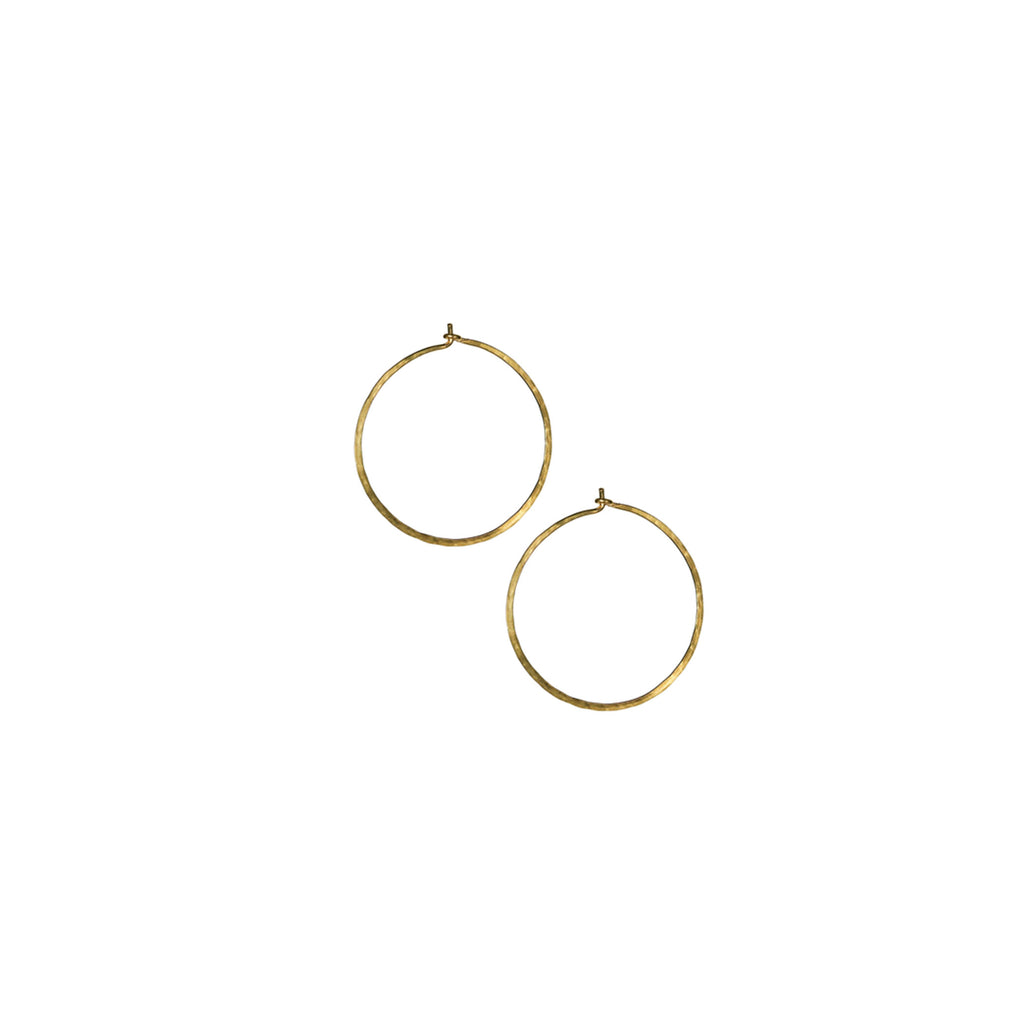 Small Slide Thru Hoop Earrings